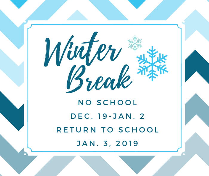 Winter Break begins Wednesday, Dec. 19.