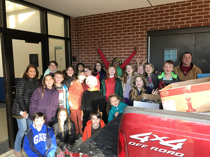 The Mills Lawn Food Drive collected more than 1800 items for the food pantry.