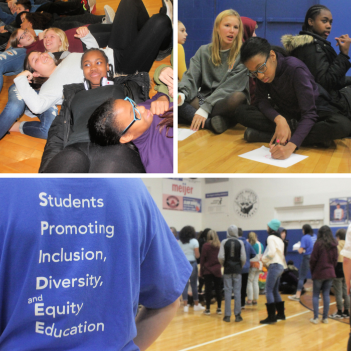 Middle school can be hard - SPIDEE is working to make it a little easier! YSHS SPIDEE student leaders guided 7th and 8th grade students through Changing in the Middle activities - focused on promoting inclusion, diversity, and equity - last week. #FearlessThinkers