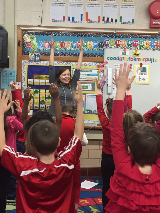Melissa Tinker, a local child therapy expert, visited kindergarten classes to help with our social-emotional PBL.