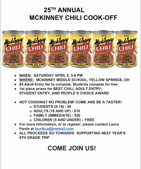 The 25th Annual McKinney Chili Cook Off is Saturday, April 6.