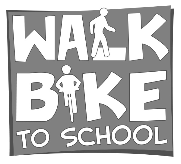 National Walk or Bike To School Day Logo