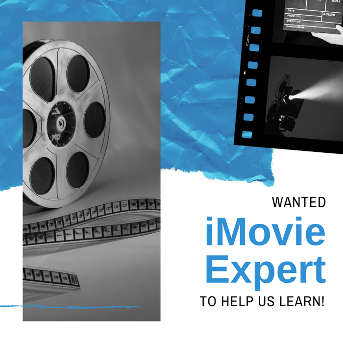 Mrs. Hitchcock's 4th graders are looking for an iMovie expert to help them learn.