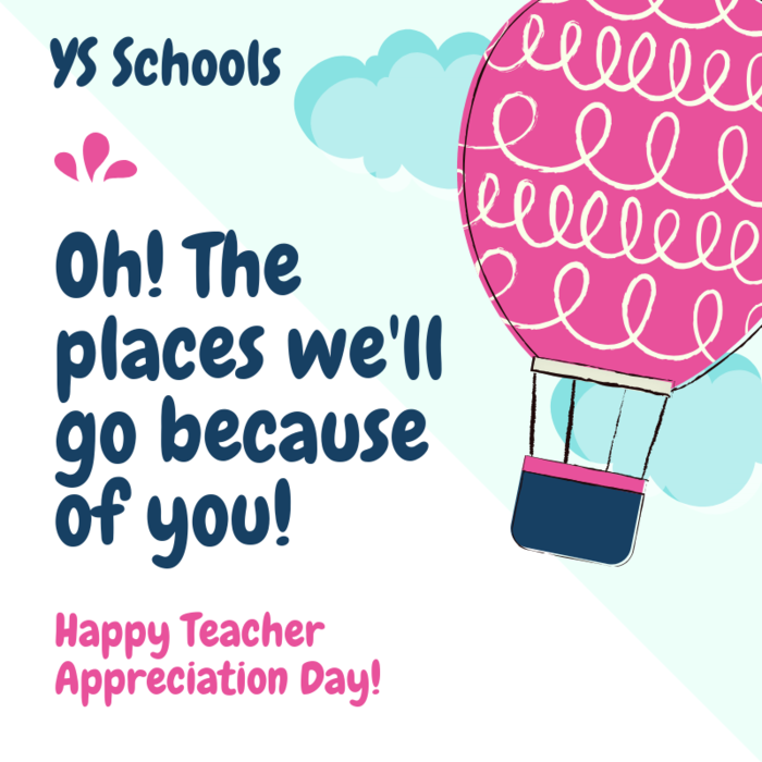 Thank you to YS educators for your hard work.