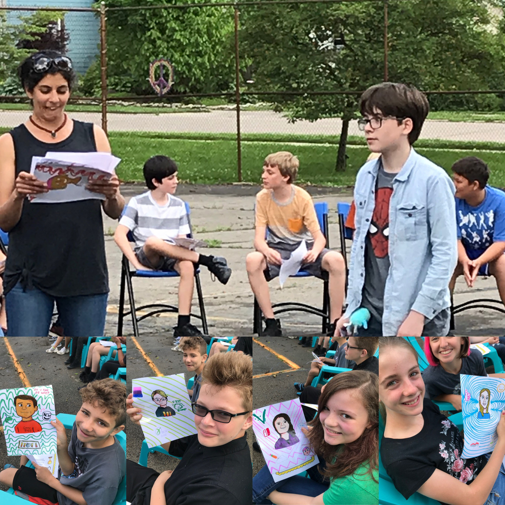 6th grader Kian B gifted each member of the 6th grade class with a portrait he drew of them during the 6th grade celebration.