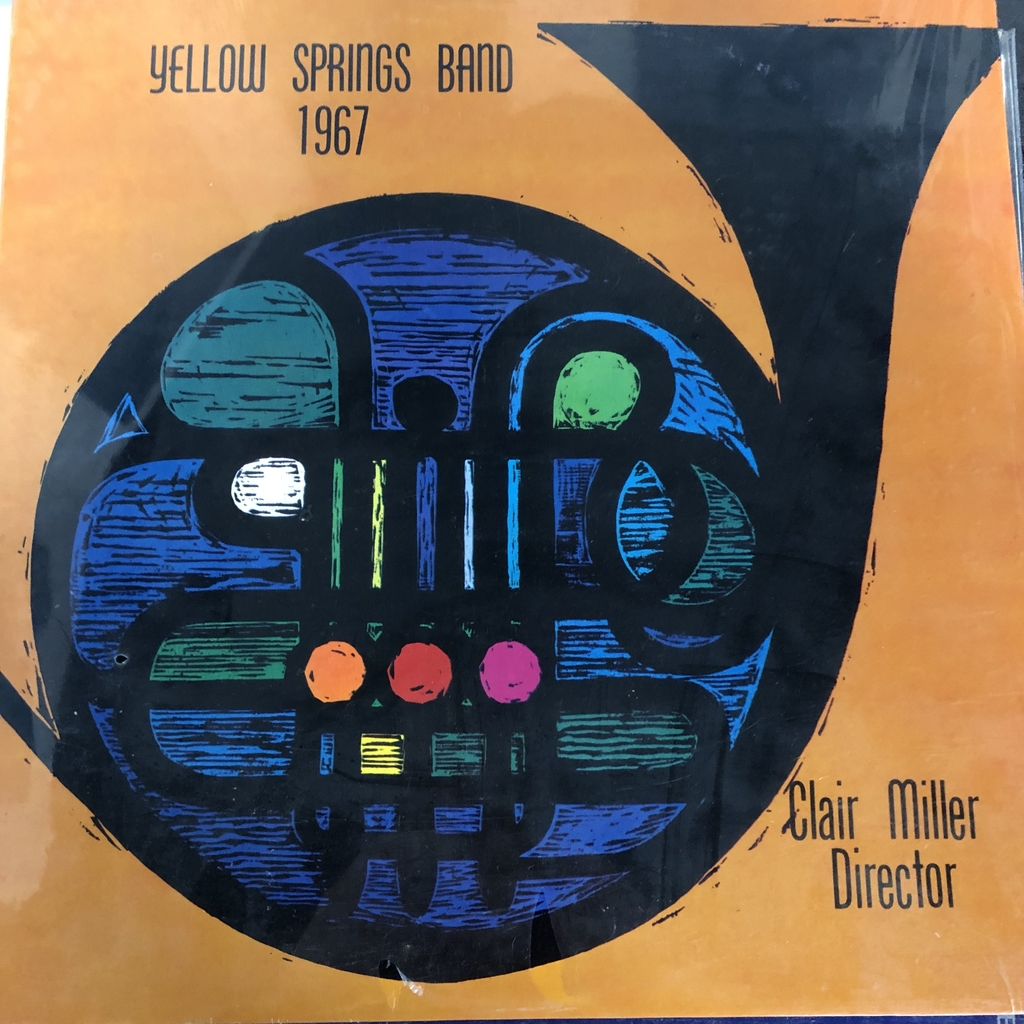 Front album cover of the YSHS band recorded in 1967 under the direction of Clair Miller