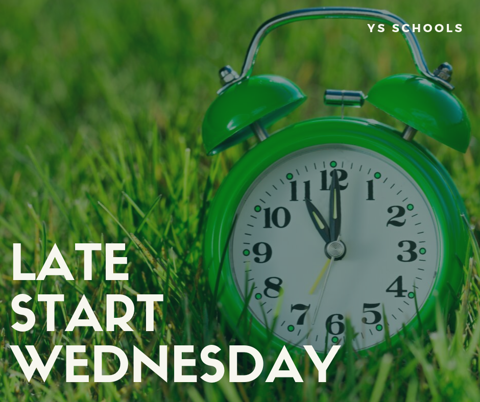 Wednesday, Sept. 18, is a Late Start Wednesday.