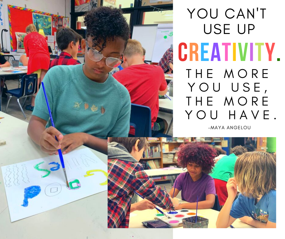"""You can't use up creativity. The more you use, the more you have."" -Maya Angelou We love seeing our students explore their creativity through Art classes at YS Schools! #FearlessThinkers #MotivationMonday"