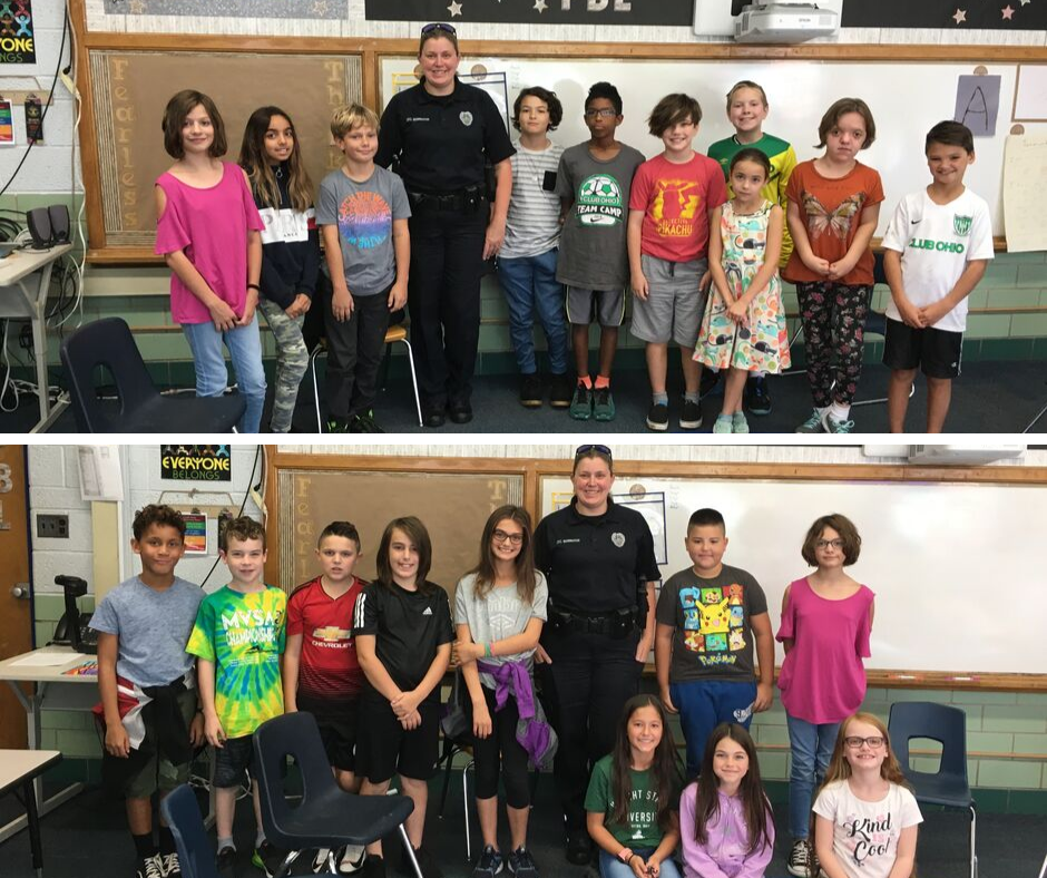 Thank you to Officer Bennington of YSPD for visiting with students in Mr. Gudgel's Skills for Life classes! #FearlessThinkers