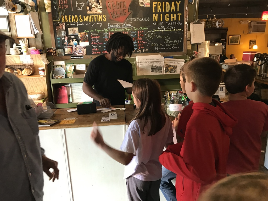 Mrs. Hitchcock's students took a Kindness Tour of the village last week, delivering handwritten notes to local businesses.