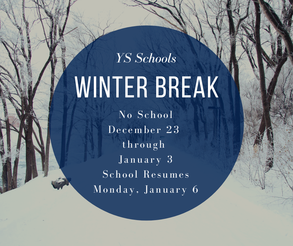 Reminder: Tomorrow, Friday, Dec. 20, is our last day for our #FearlessThinkers before Winter Break! There is no school December 23-January 3. We look forward to seeing our students when school resumes on January 6, 2020!