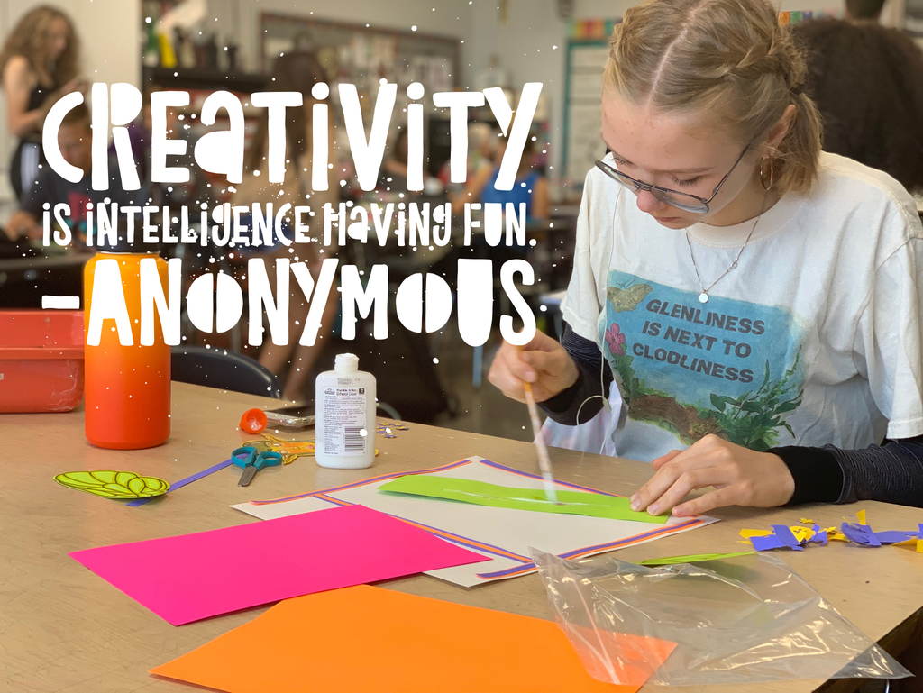 Creativity is intelligence having fun. -Anonymous