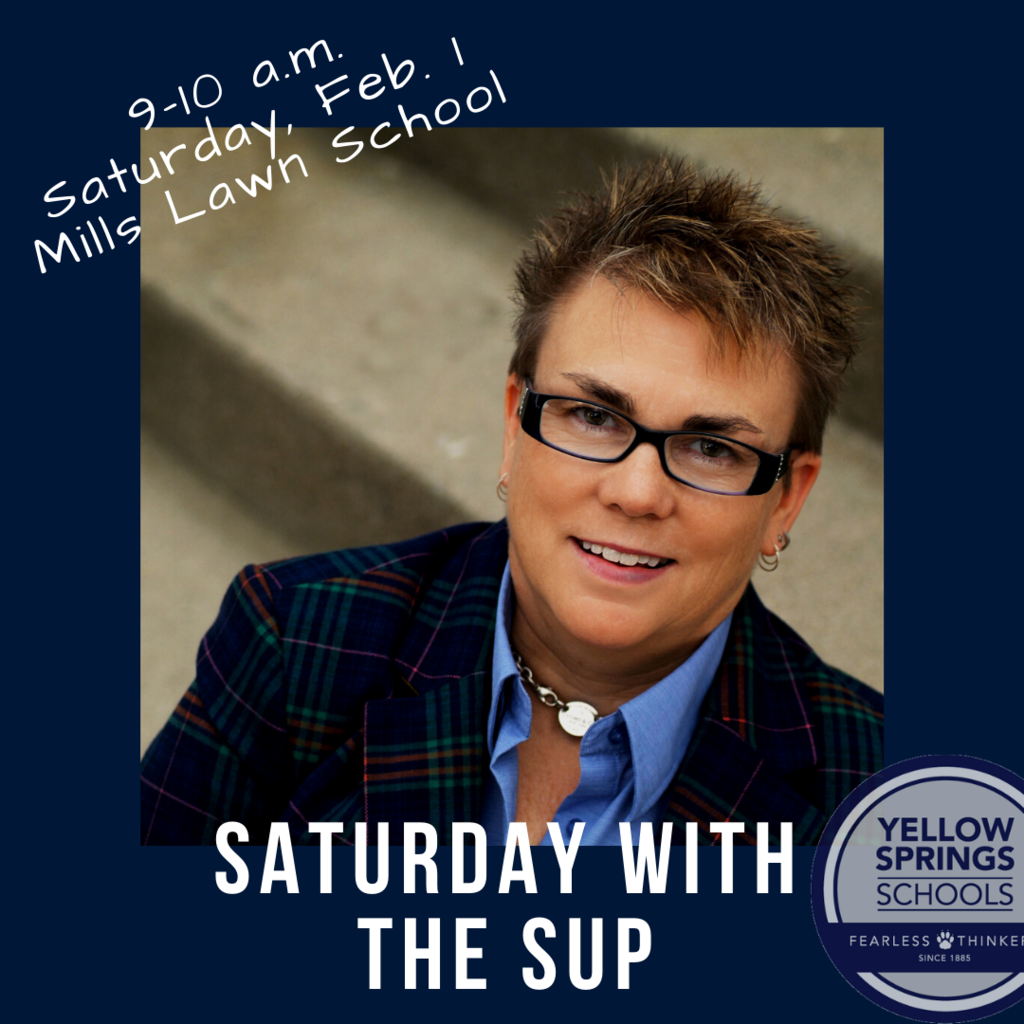 "Join Superintendent Terri Holden for the first ""Saturday with the Sup"" from 9-10 a.m. on Saturday, Feb. 1, 2020, in the Graham Conference Room at Mills Lawn Elementary School. #FearlessThinkers #YSBulldogs"