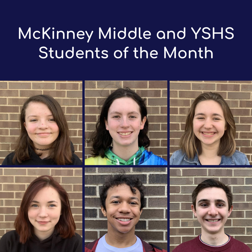 Congratulations to our McKinney and YSHS Students of the Month! #FearlessThinkers #YSBulldogs